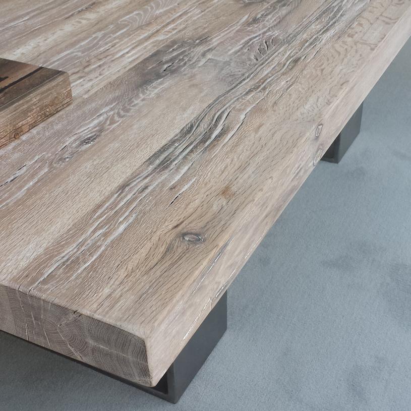 Wood U0026 Metal Coffee Table